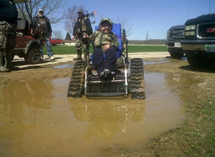 The Action Trackchair took me places my regular powered chair never could. I went through every mud puddle I could find!